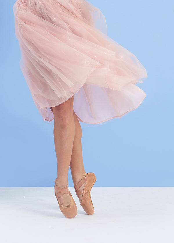 The Tulle Skirt - Rose Sparkle - Ethical dancewear and ballet clothing by Cloud and Victory