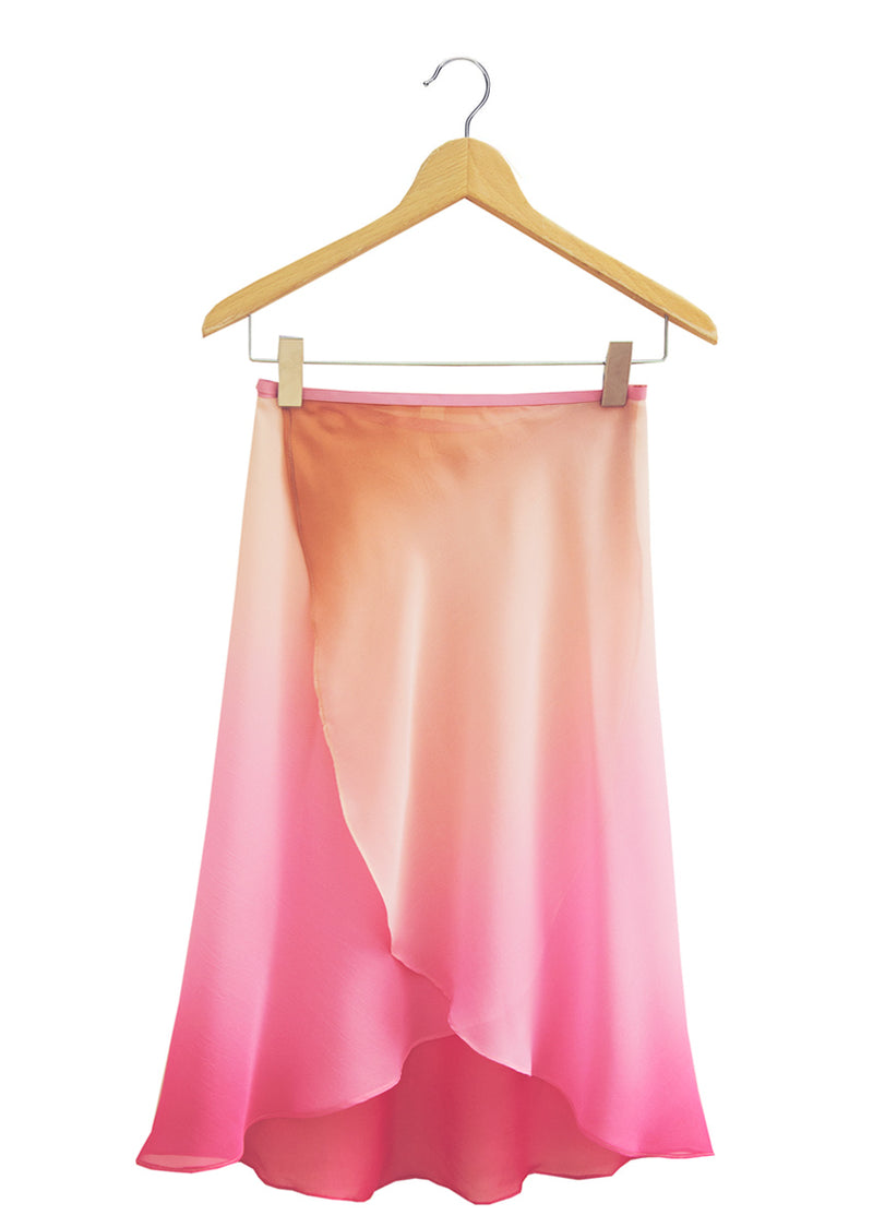 The Ombré  Rehearsal Skirt - Dusk Rose - Ethical dancewear and ballet clothing by Cloud and Victory