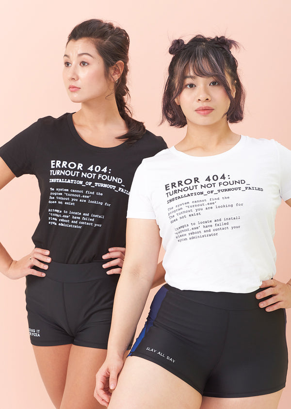 The Turnout Error 404 Tee - Wholesale - Ethical dancewear and ballet clothing by Cloud and Victory