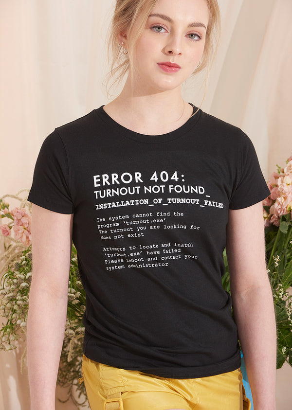 The Turnout Error 404 Tee - Ethical dancewear and ballet clothing by Cloud and Victory