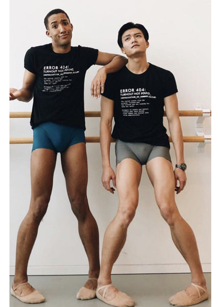 The Turnout Error 404 Manshirt - Ethical dancewear and ballet clothing by Cloud and Victory