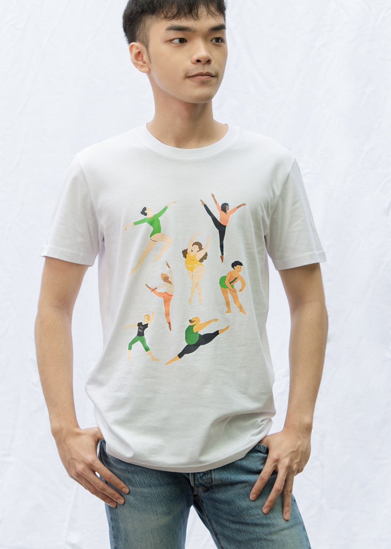 The Every Body Dance Unisex Tee - Ethical dancewear and ballet clothing by Cloud and Victory