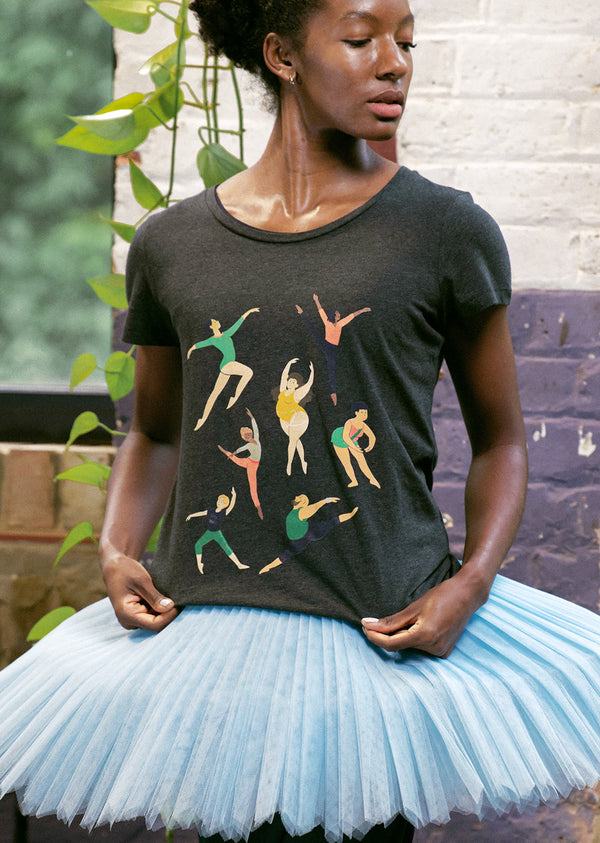 The Every Body Dance Tee - Ethical dancewear and ballet clothing by Cloud and Victory