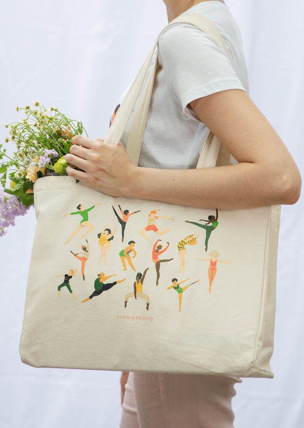 Every Body Dance Organic Cotton Tote Bag - Ethical dancewear and ballet clothing by Cloud and Victory