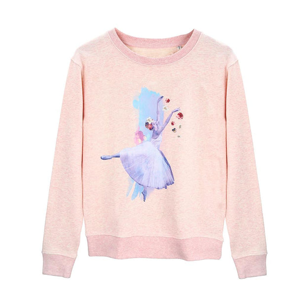 The Giselle Sweatshirt - Heather Pink - Cloud & Victory Online Ballet Clothing and Dancewear