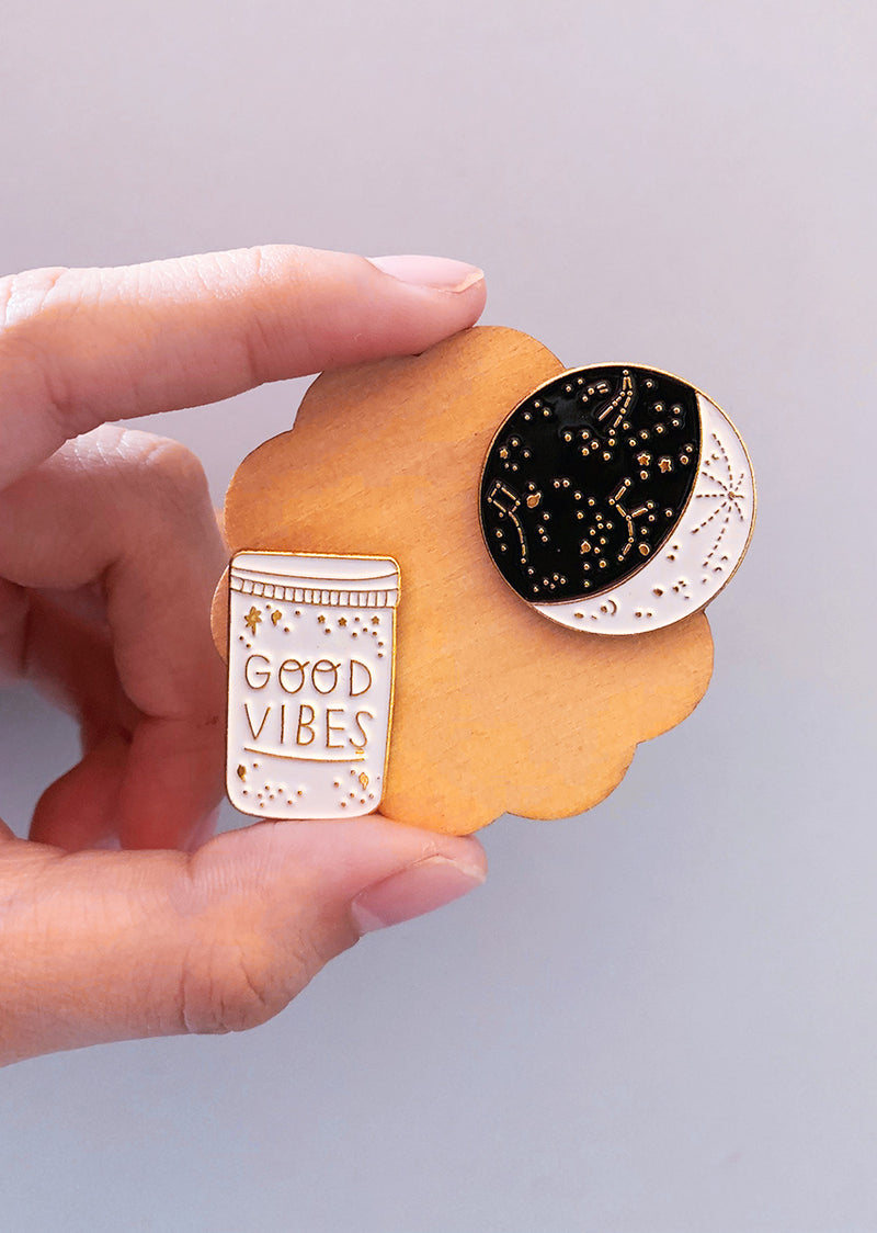 The Good Vibes Pin Set - Ethical dancewear and ballet clothing by Cloud and Victory