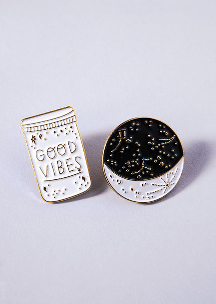 The Good Vibes Pin Set - Cloud & Victory Ethical Ballet Clothing and Dancewear