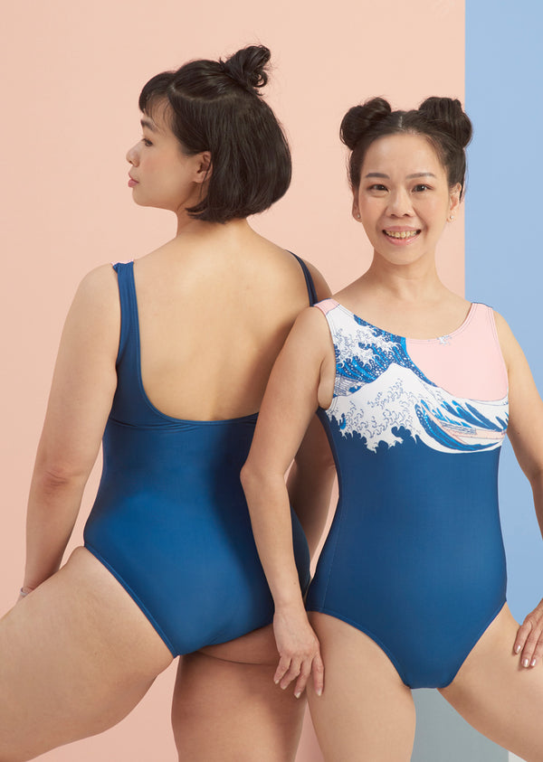 The Great Wave Leotard - Ethical dancewear and ballet clothing by Cloud and Victory