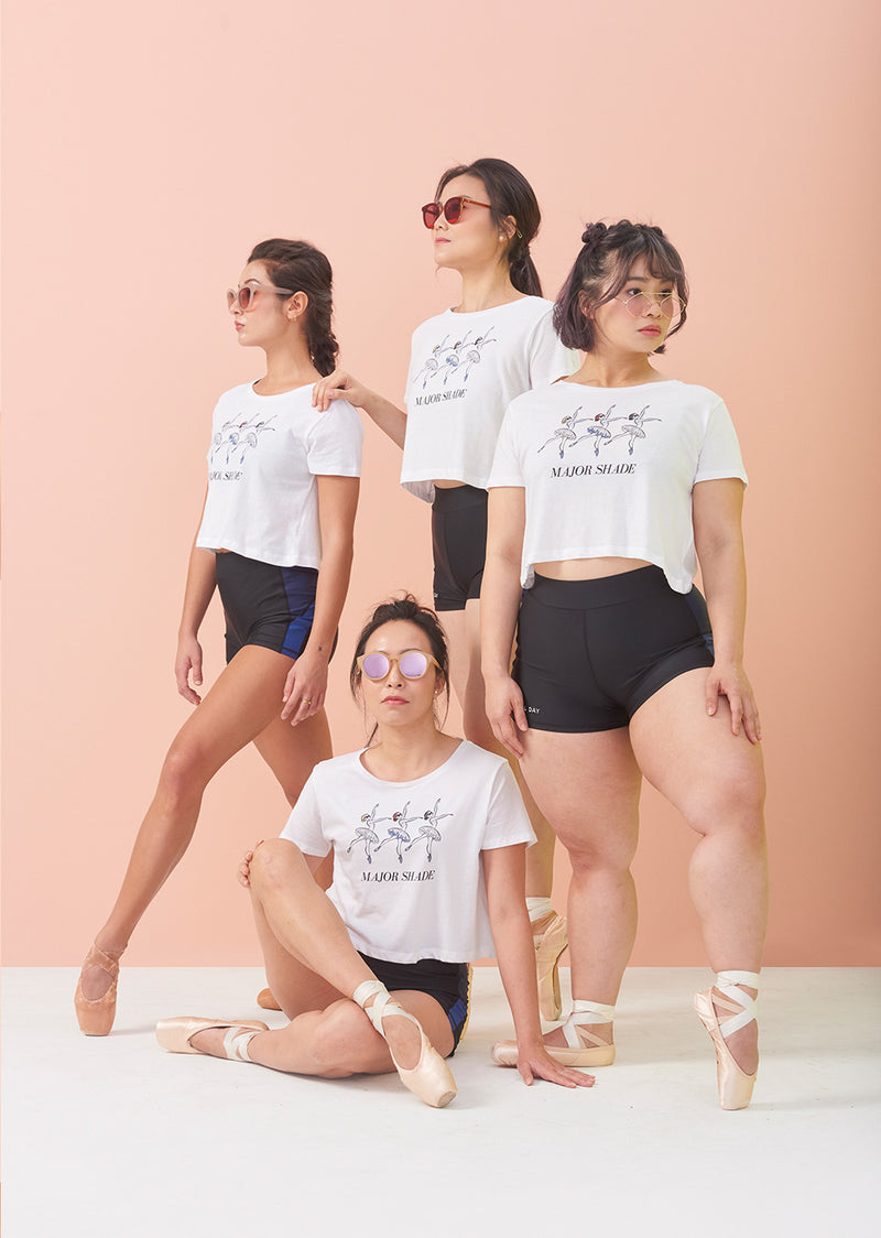 The Major Shade Crop Top - Ethical dancewear and ballet clothing by Cloud and Victory