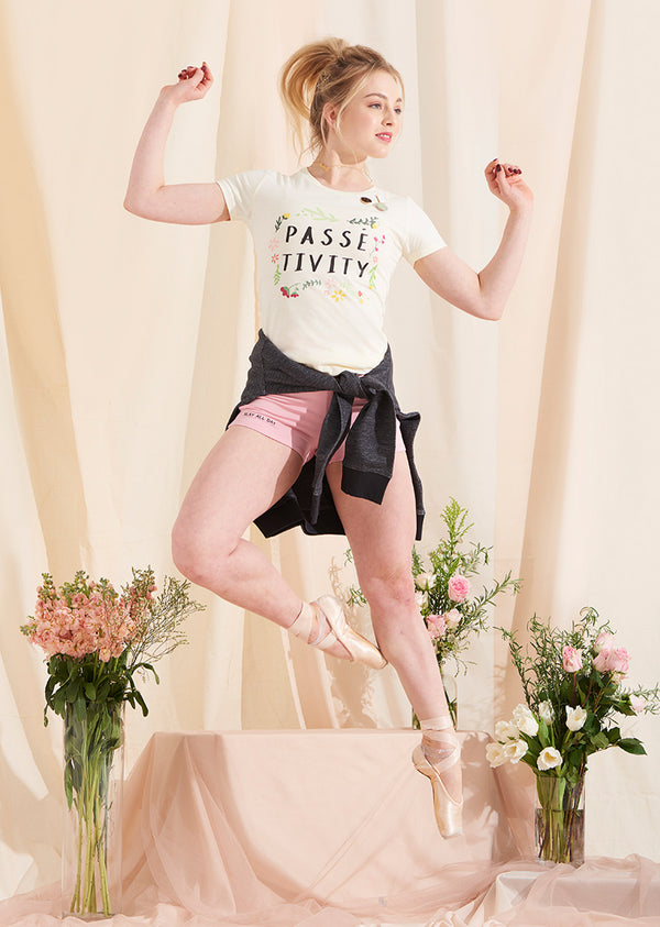 The Passé-tivity Tee - Ethical dancewear and ballet clothing by Cloud and Victory