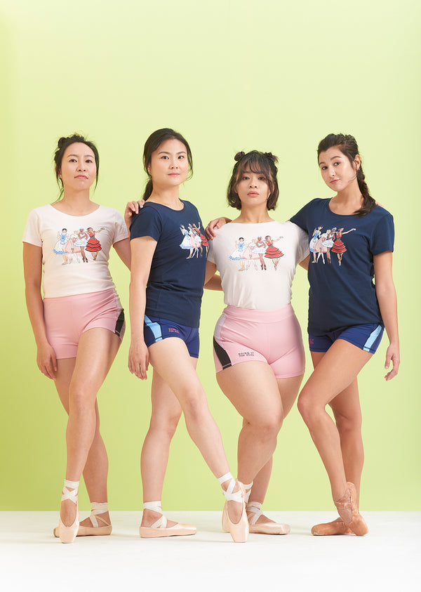 The Squad Goals Tee - Ethical dancewear and ballet clothing by Cloud and Victory
