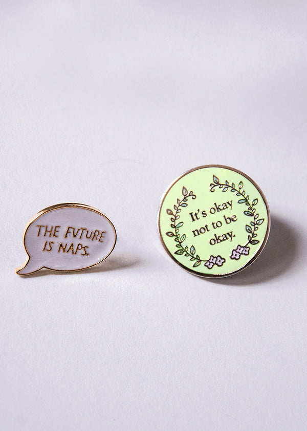 The Self-Care Pin Set - Cloud & Victory