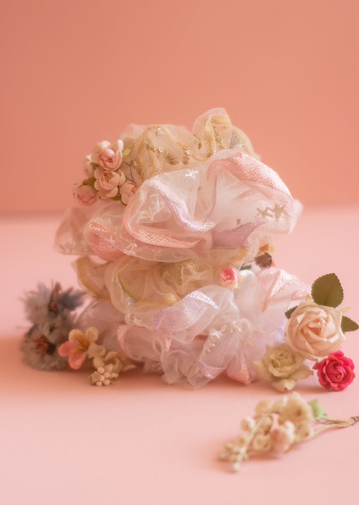 Tulle Scrunchie Pack - Ethical dancewear and ballet clothing by Cloud and Victory