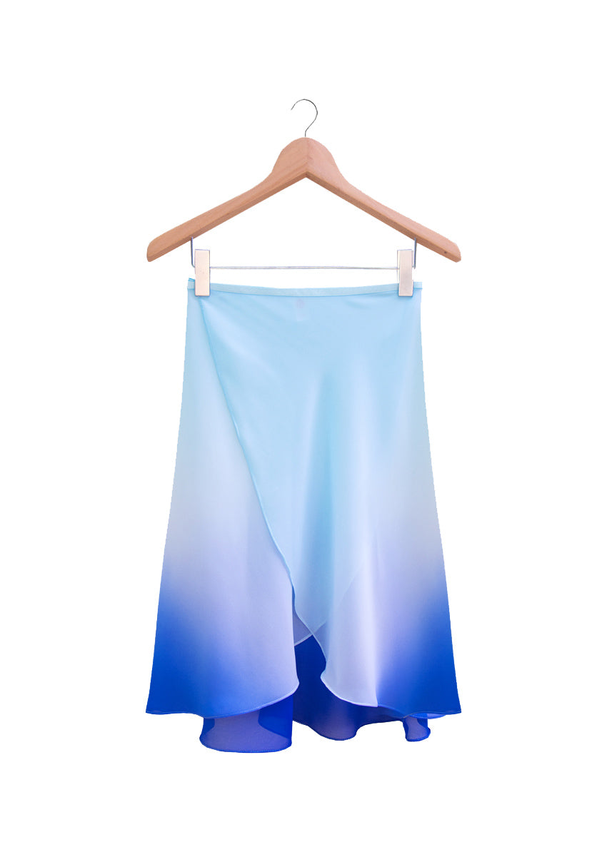 The Degradé Rehearsal Skirt - Ombré Blue - Cloud & Victory Ethical Ballet Clothing and Dancewear