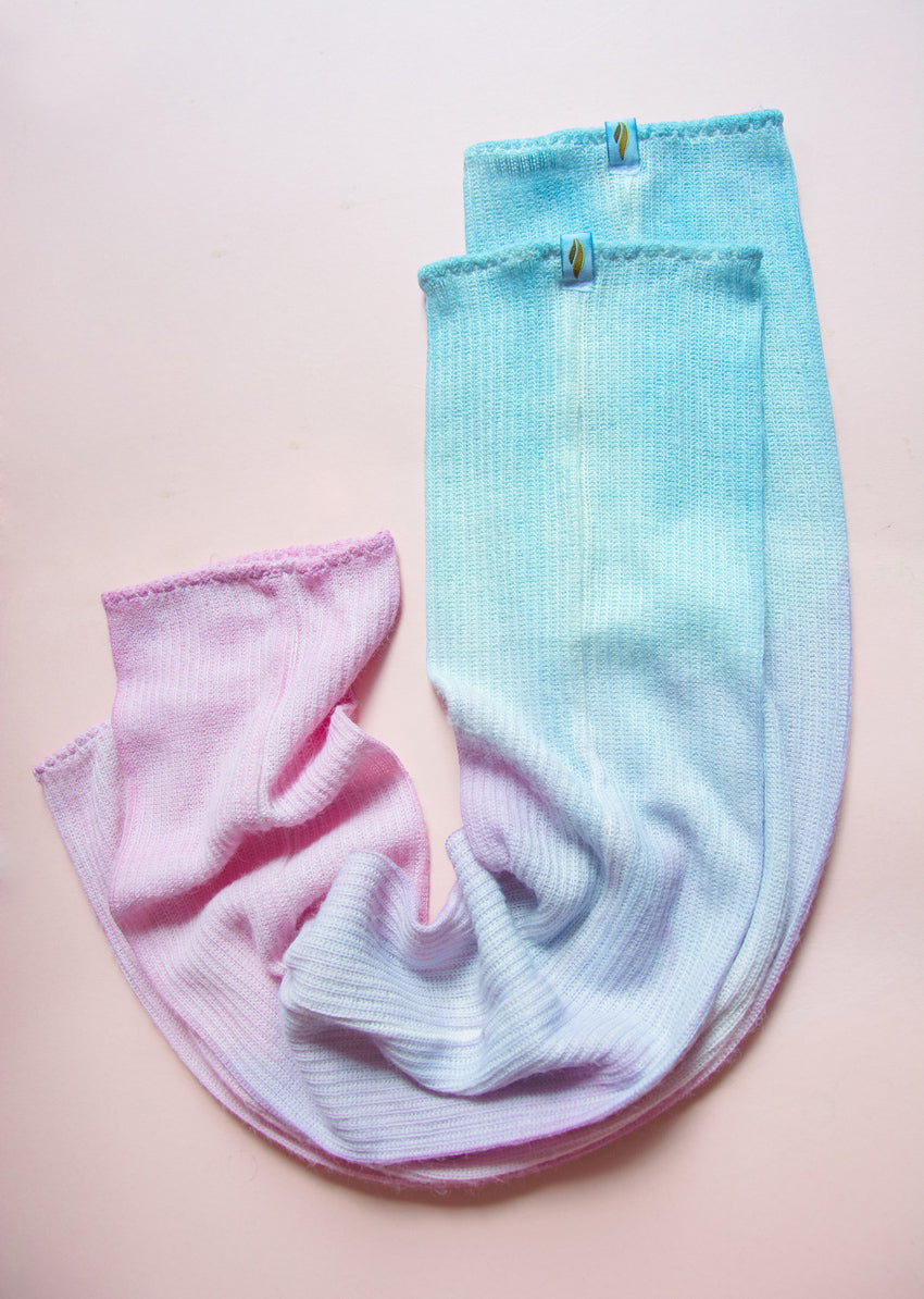 C&V x Rubiawear Ballet Long Legwarmers - Ombré Unicorn - Cloud & Victory Online Ballet Clothing and Dancewear
