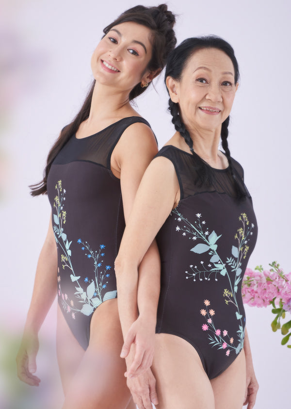 The Dark Floral Leotard
