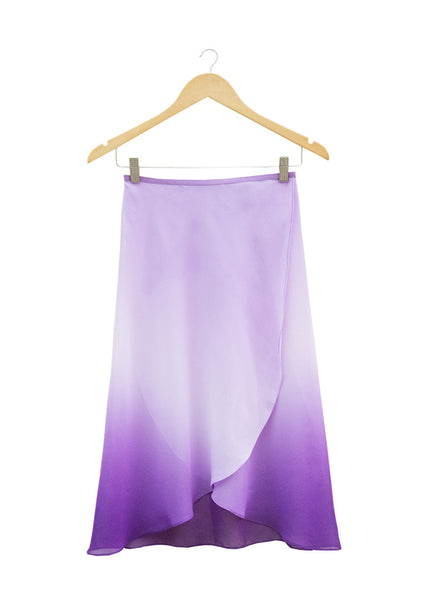 The Degradé Rehearsal Skirt - Ombré Purple - Cloud & Victory Ethical Ballet Clothing and Dancewear
