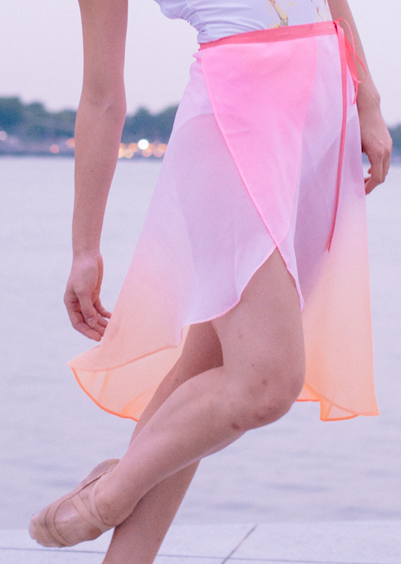 The Ombré Rehearsal Skirt - Sunset - Ethical dancewear and ballet clothing by Cloud and Victory