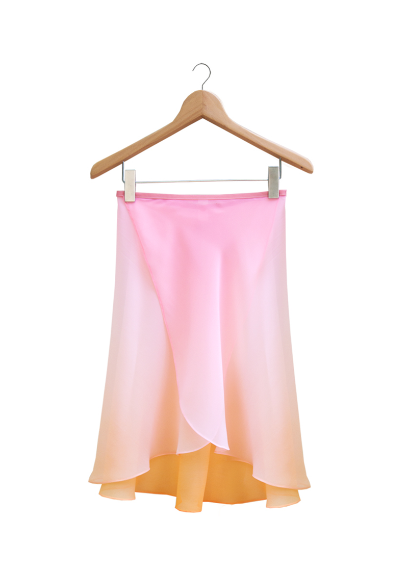 The Degradé Rehearsal Skirt - Sunset - Ethical dancewear and ballet clothing by Cloud and Victory