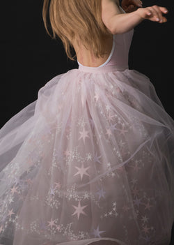 The Embroidered Tulle Skirt - Constellation - Ethical dancewear and ballet clothing by Cloud and Victory