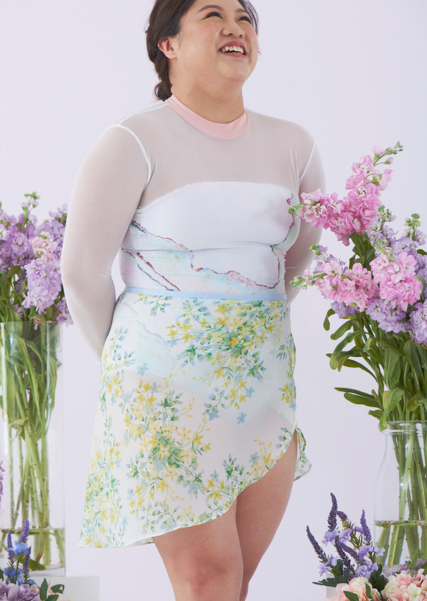 The Spring Floral Ballet Skirt - Short - Cloud & Victory