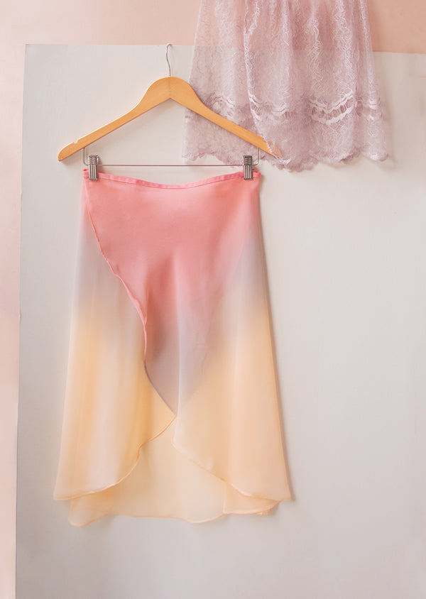 The Ombré  Rehearsal Skirt - Dawn - Ethical dancewear and ballet clothing by Cloud and Victory