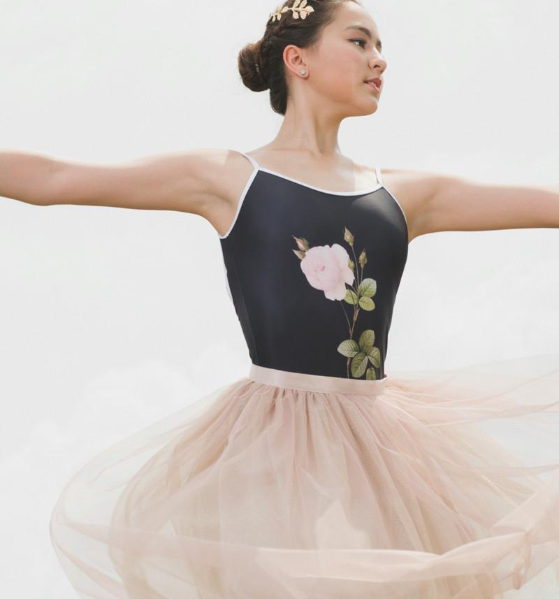 The Black Rose Leotard - Cloud & Victory Ethical Ballet Clothing and Dancewear