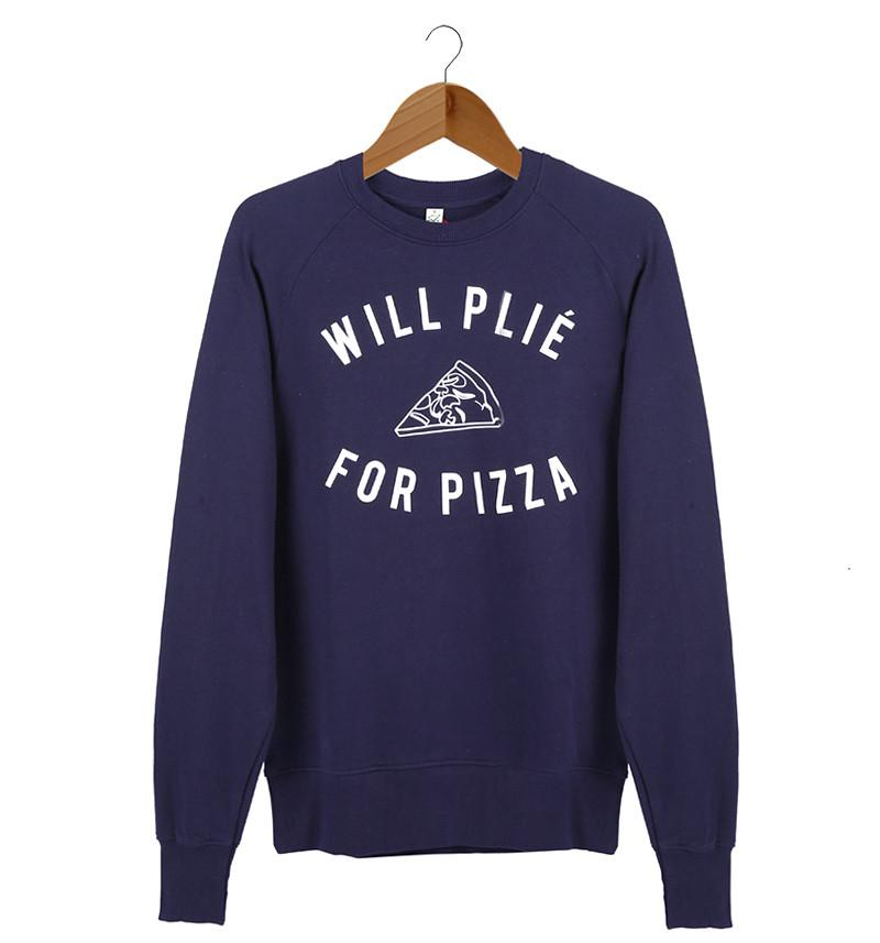 The Pizza Unisex Sweater - Navy