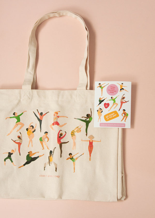 Every Body Dance Tote Bag + Sticker Set - Cloud & Victory