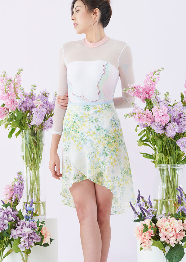 The Spring Floral Ballet Skirt - Long - Cloud & Victory