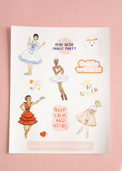 Ballet Heroine Stickers - Ethical dancewear and ballet clothing by Cloud and Victory