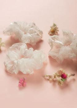 Tulle Scrunchies - Ethical dancewear and ballet clothing by Cloud and Victory