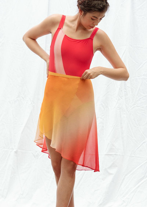 The Ombré Rehearsal Skirt - Pumpkin Spice - Ethical dancewear and ballet clothing by Cloud and Victory