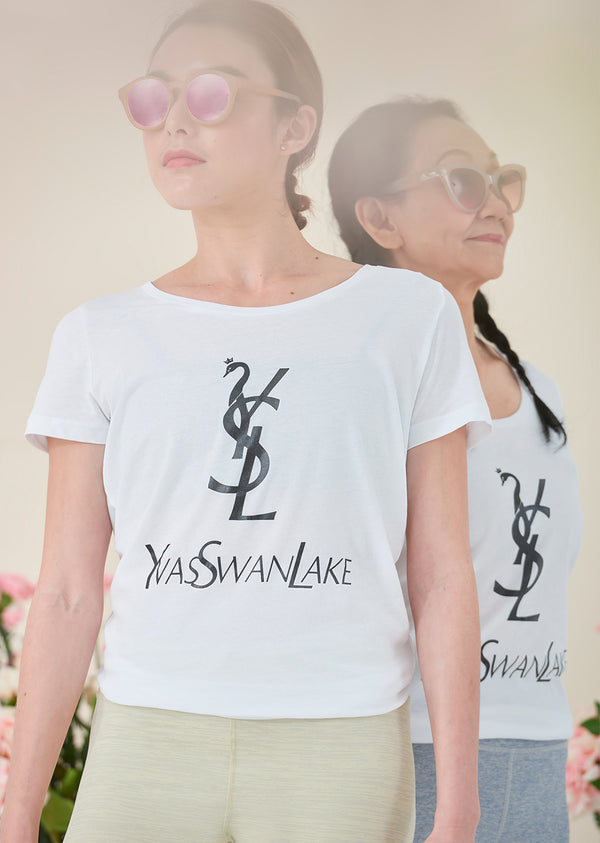 The Yas Swan Lake Tee - Cloud & Victory
