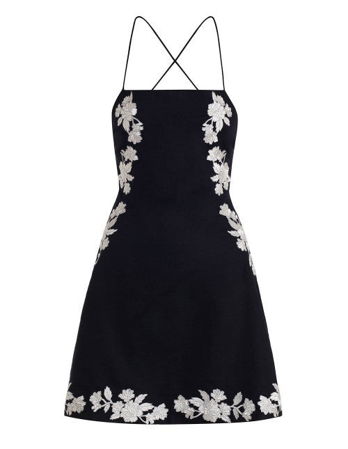 Divinity Motif Lace Back Dress
