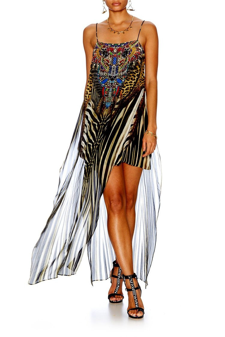 Camilla Sheer Overlay Maxi Dress