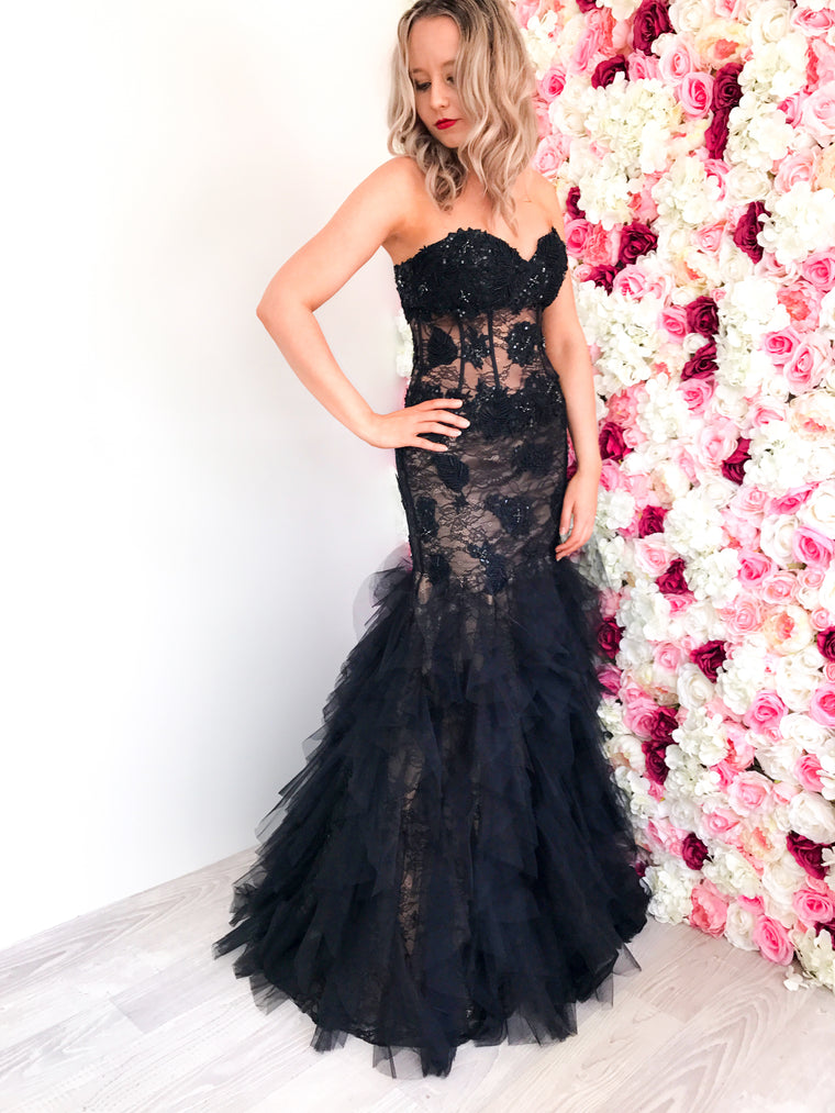 Strapless Jovani Formal Dress Hire Australia