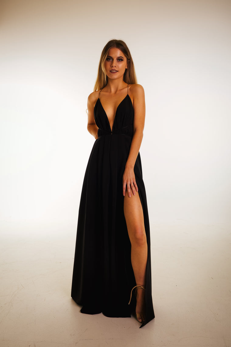 Blossom gown in light black