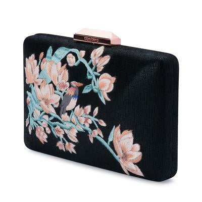 Olga Berg Embroidered Clutch