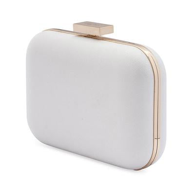 Olga Berg White Clutch Hire