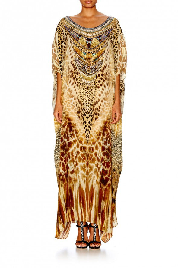 Leopard Print Camilla Caftan For Hire
