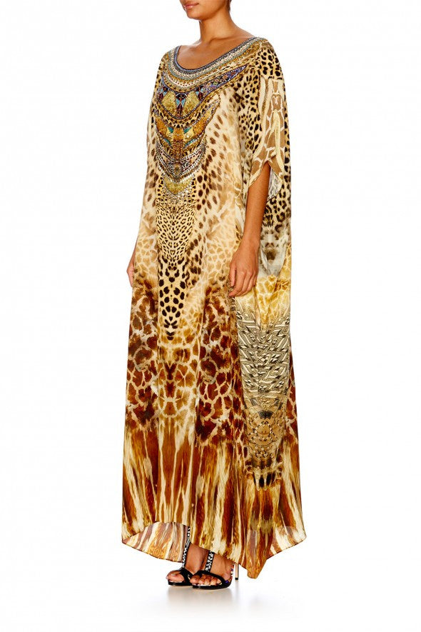 Leopards Leap Round Neck Kaftan