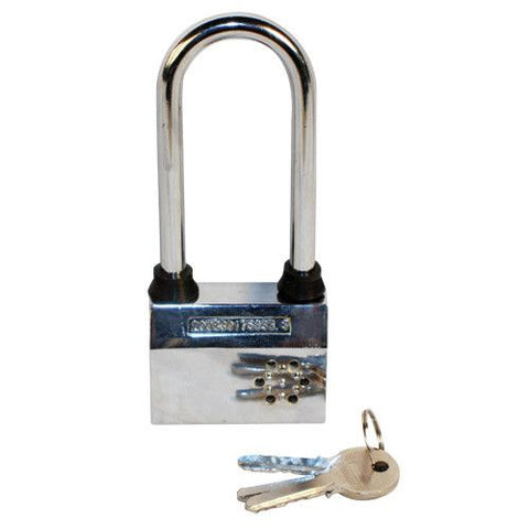 Large Padlock With Alarm - Safety Gizmo