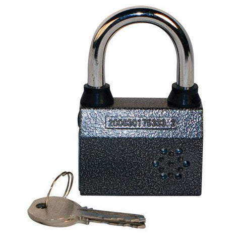 Small Padlock With Alarm - Safety Gizmo