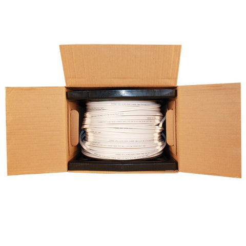 500 OR 1000 FOOT SIAMESE RG59 CABLE WHITE