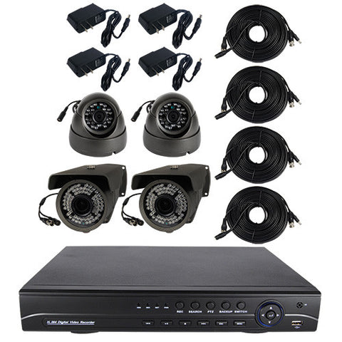 High Definition 4 Channel Surveillance System with 1 or 2TB Hard Drive | Complete Surveillance System | 761.00 | Safety Gizmo