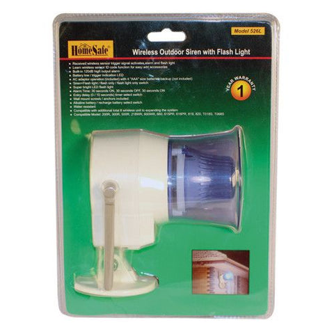 HomeSafeu00ae Wireless Outdoor Siren - Safety Gizmo