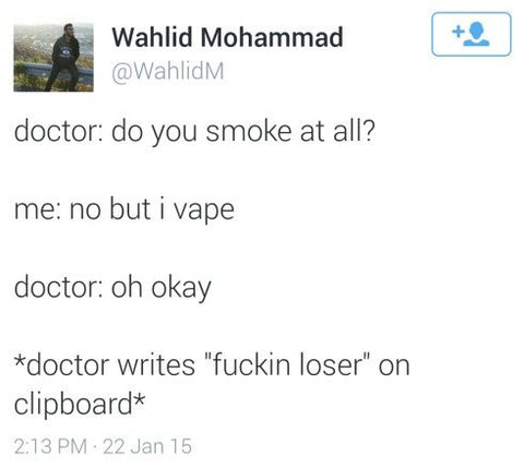 Having bad vape etiquette just aggravates this kind of negativity.
