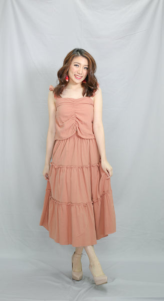Apricot sweetheart top and skirt