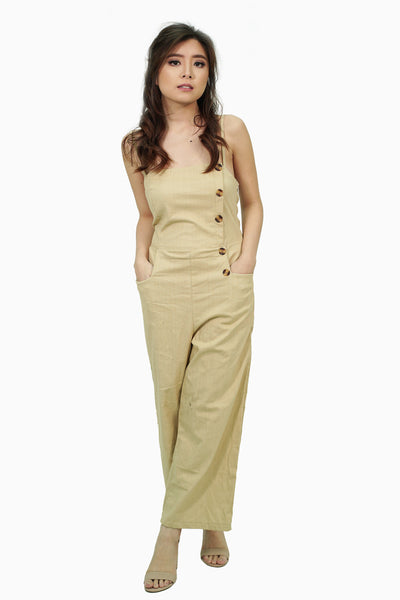 Cream sided jumpsuit